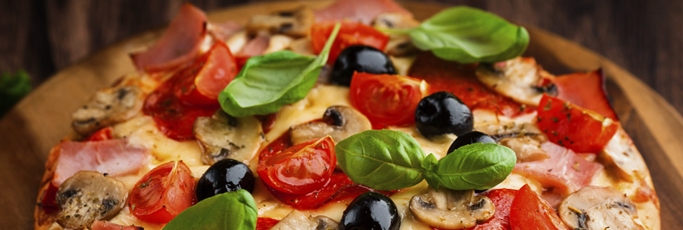 Pizza made with fresh local ingredents