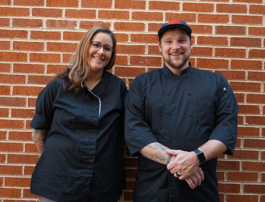 Chefs Leah and Jay