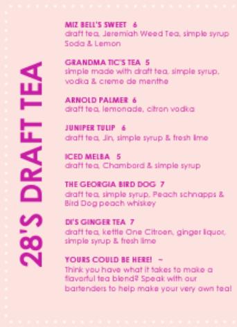 28's Draft Tea List